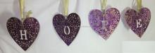 Christmas Decoration Metal Christmas decorations hangings-Heart shape, metal heart shape decoration, Heart shaped/colored Hearts