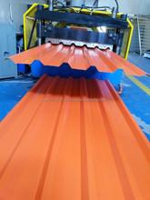 Single Skin Polyster Coated 35/200 mm Alu zinc Profile Corrugated Roofing Sheet Supplier in Dubai UAE Ajman Abu Dhabi