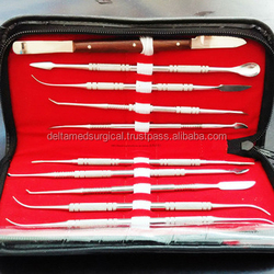 Delta Med New Wax Carving Stainless Steel Dental Lab Instrument Wax Carving Tool Kit Dental Lab Wax Carver