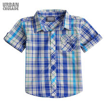Quality Brand Wholesale Boys Short Sleeve Casual Check Kids T-shirt Wholesale