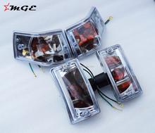 Brand New Vespa PX150 LML Star Stella P150X Indicator Lamps Units Clear @MGE