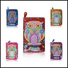 Hot Selling Women Purse Long with print Folk Art Owl, Ladies Purses