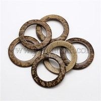 Ring Coconut Linking Rings, CoconutBrown, 45x4~6mm, Hole: 30mm COCO-N001-42