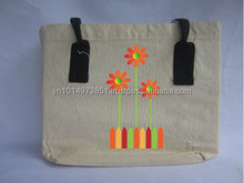 top quality recycled promotional plain canvas bag in Vietnam