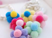 DIY Glitter pompoms, acrylic pompom,Assorted Color Metallic Tinsel Pompoms