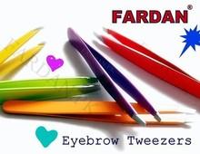 stainless steel eyebrow slanted tweezers
