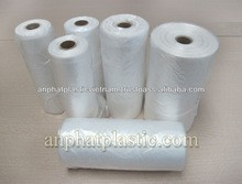 Vietnam Natural Shopping Plastic Flat Bag on roll