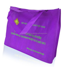 Hot new trendy imprint canvas bag non woven recycled bag tote plain bag in Vietnam
