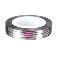 Free Shipping 10pcs Nail Art Tips Rolls Striping Tape Line Stickers Manicure Accessories Beauty Tools Gold Silver