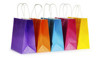 wholesale promotional boutique logo printed recyclable custom made cheap shopping paper bag/ paper gift bag