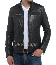 Top brand good quality lether jacket for man