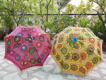 floral embroidered indian decorative umbrellas