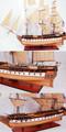 Constitución uss xl. Nuevo!! Modelo de madera de los buques de altura