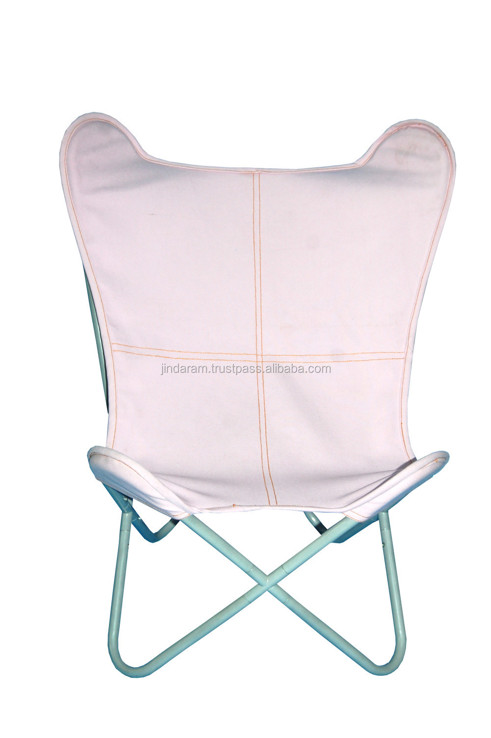 White Canvas  Butterfly Chair.JPG
