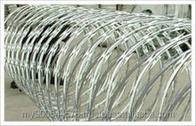 Electric galvanized razor barbed wire for fencing of residences