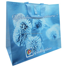 Hot sale customized full printing color laminated pp woven shopping bag