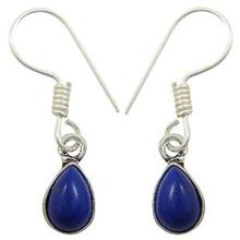 Placcato in argento indiano lapislazzuli orecchini penzolare pietra gioielli acquistare on-line regalo- se7202