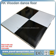 4' * 4' portable white dance floor for sale wooden dance floor panels with aluminum edge
