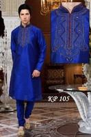 Royal blue kurta design for men