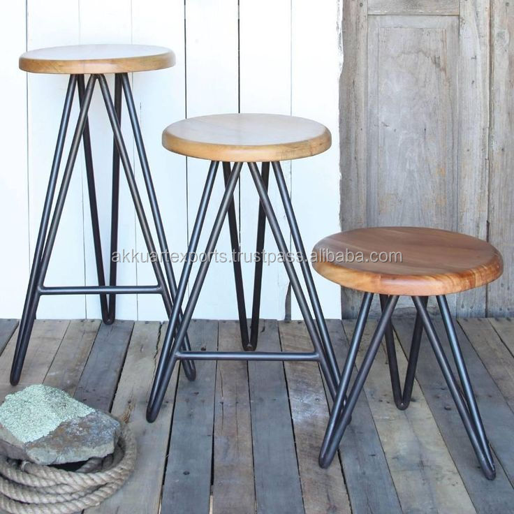 Home industrial stool hairpin legs bar stool counter stool for Cheap hairpin legs