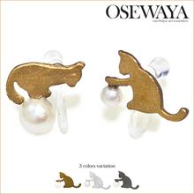 new ladies ornaments cute cat design charm earrings