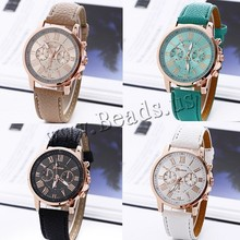 2015 Hot Sale PU Ladies Watches Quartz Wrist Watches