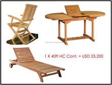 Teak Garden Furniture in Package Container 1 x 40 HC
