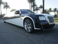 2008 Two Tone Black and White 130-inch Chrysler 300 Limo for Sale #1211