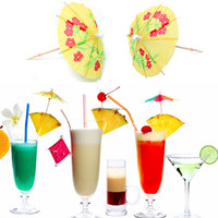 Lovely Colorful 50/100/150 Paper Parasols Umbrellas Drinks Toothpick Small Mini Decor For Wedding Luau Cock Party Banquet Ball