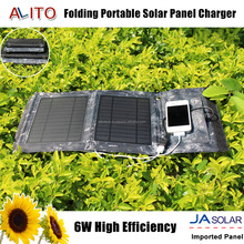 6w portable outdoor waterproof multifunction foldable solar panel charger for mobile phone hiking travling business
