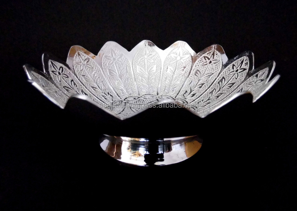 Indian Wedding Return Gift Item Lovely Silver Plated Swan Brass Tray