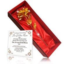 24kt Gold Foil Rose,Best Valentine's Day Gift For Lovers, Golden Rose Flower For Wedding Party/Home Decoration