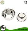 Stainless Steel Anti Skid Dog Pet Bowl Silicon Bottom