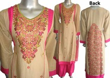 Shalwar kameez Indian and Pakistani designer design women ladies embroidery party linen dresses