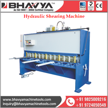 Hydraulic Shearing Machines Used At Numerous Industrial Segments With High Quality Control Norms
