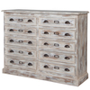 Distressed Effect 10 Drawer Cabinet