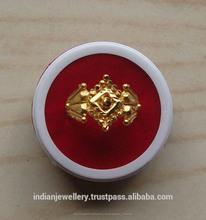 Chapado en oro de la joyería anillos de dedo suministros de exportación