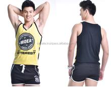 Mens body building singlets / tank tops ,92% cotton 8% spandex mens plain slim fit tank tops,custom mens rib fitness singlets