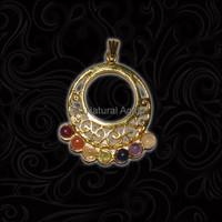 Golden Plated 7 Chakra Pendant - Natural Pendant
