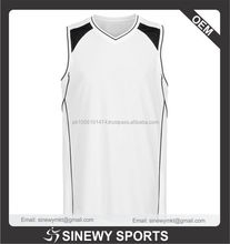 Accept sample order custom basket wear,custom basket ball jersey,OEM basket ball new design white color