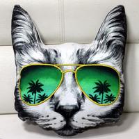 Specs Series CAT Face stuffed Soft Cushion - 40 cm. Ht x 40 Cm Wide.