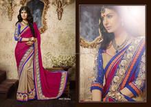 Latest online Surat Exclusive Party Wear Georgette Indian Saree / Sari / Shari