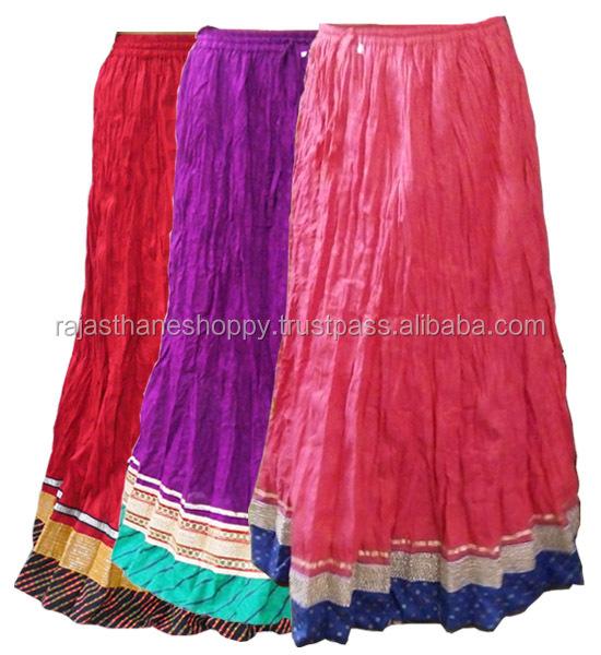 single color broadcade design designer skirts for