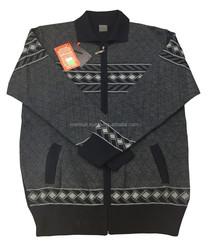 %50 Wool %50 Acrylic -Men's Zipper Cardigan - Turkish Production