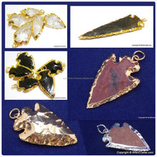 18K Gold Plated Arrowhead Pendants Gold plated stone pendant