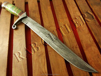 """20.5"""" Damascus Steel Bowie Hunting Knife"""