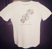 Hand Embroidered 100% Cotton T-shirts for ladies with oriental designs