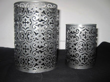 Metal pillar candle holder, candle holders for Christmas, iron tea light holders