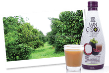 Concentrated mangosteen juice mixed with fruits in 300 ml-bottle from Thailand