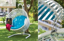 2015 Luxury poly rattan egg chair outdoor furniture
